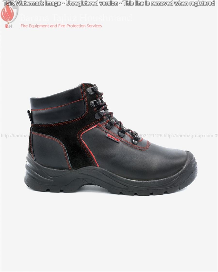 کفش ایمنی ساتر مدل چیتا قرمز با زیره رابر